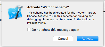 Activate Watch scheme