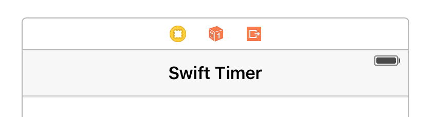 Navigation Bar Swift Timer