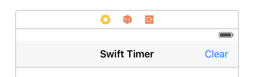 Swift Timer Clear Button