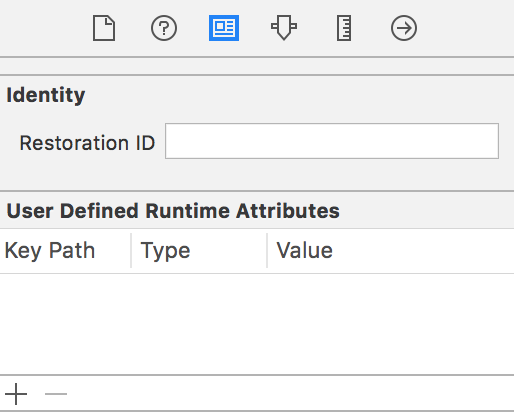 user defined runtime attributes placeholder color